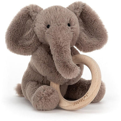 Jellycat Shooshu Wooden Ring Elephant