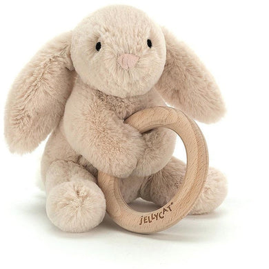 Jellycat Shooshu Wooden Ring Bunny