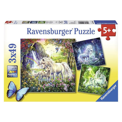 RB Beautiful Unicorns 3x49pc pzl