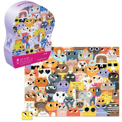 CC Lots Cats Puzzle 72pc