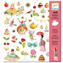 Load image into Gallery viewer, Djeco Stickers Princess Tea Party