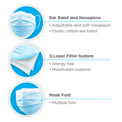 Kids 3-Ply Disposable Protective Masks