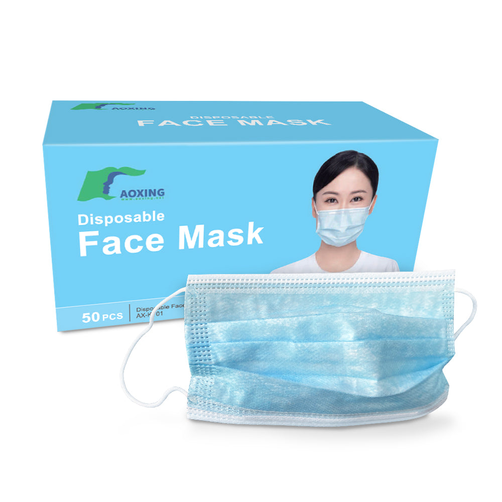 Adult 3-Ply Disposable Protective Masks