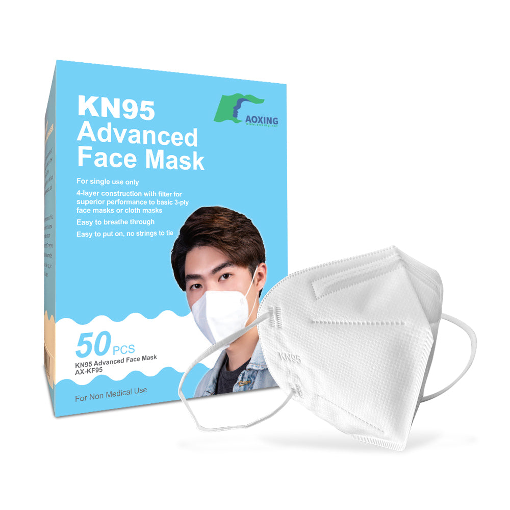 50 pack - Adult KN95 Advanced Protective Masks (CDC Tested and listed on FDA EUA, Appendix A)