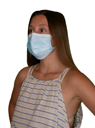 Adult 3-Ply Disposable Protective Masks (50 pack)