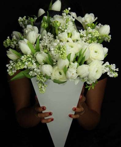 White Venice Flower Bouquet - Bloom Plan Design Miami Flower Delivery Services Father' Day gift Dad