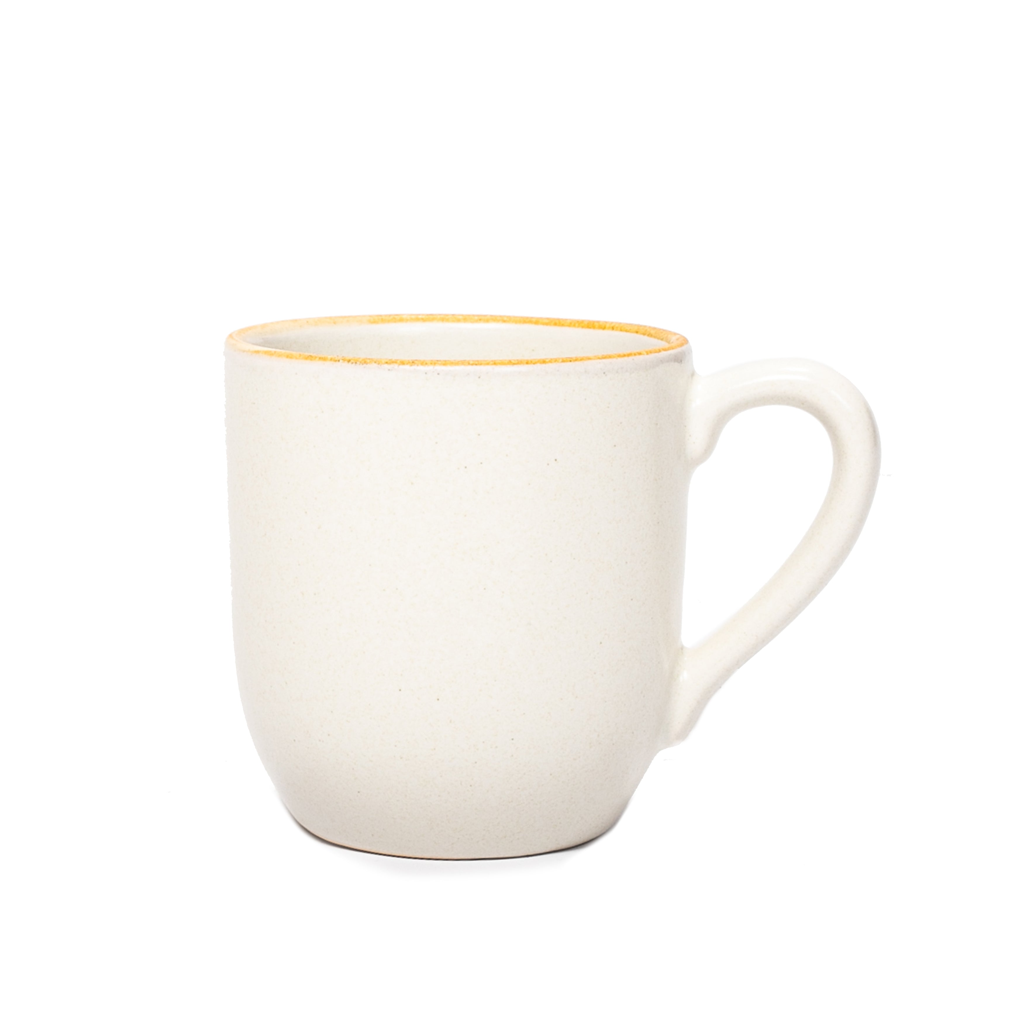 Matte White With Rye Edge Mug 40cl