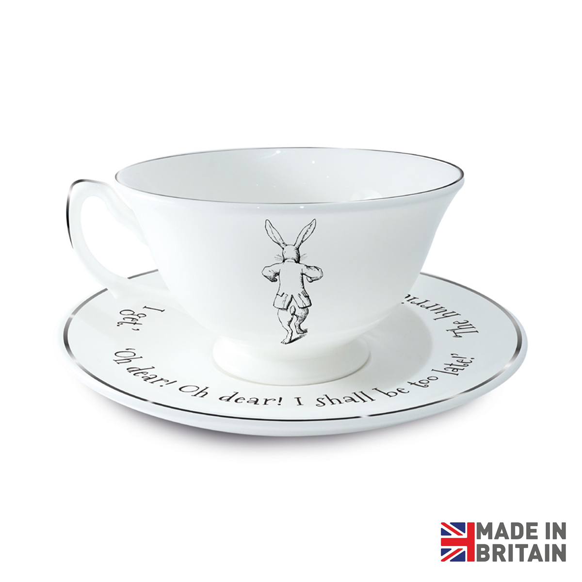 Rabbit Tea Cup and Saucer.