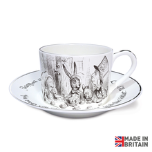 Load image into Gallery viewer, Tea Party Sterling Cup & Saucer