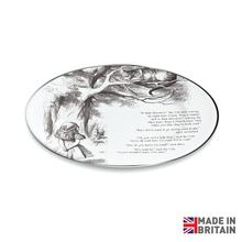 Load image into Gallery viewer, Alice & Cheshire Cat Dinner Plate