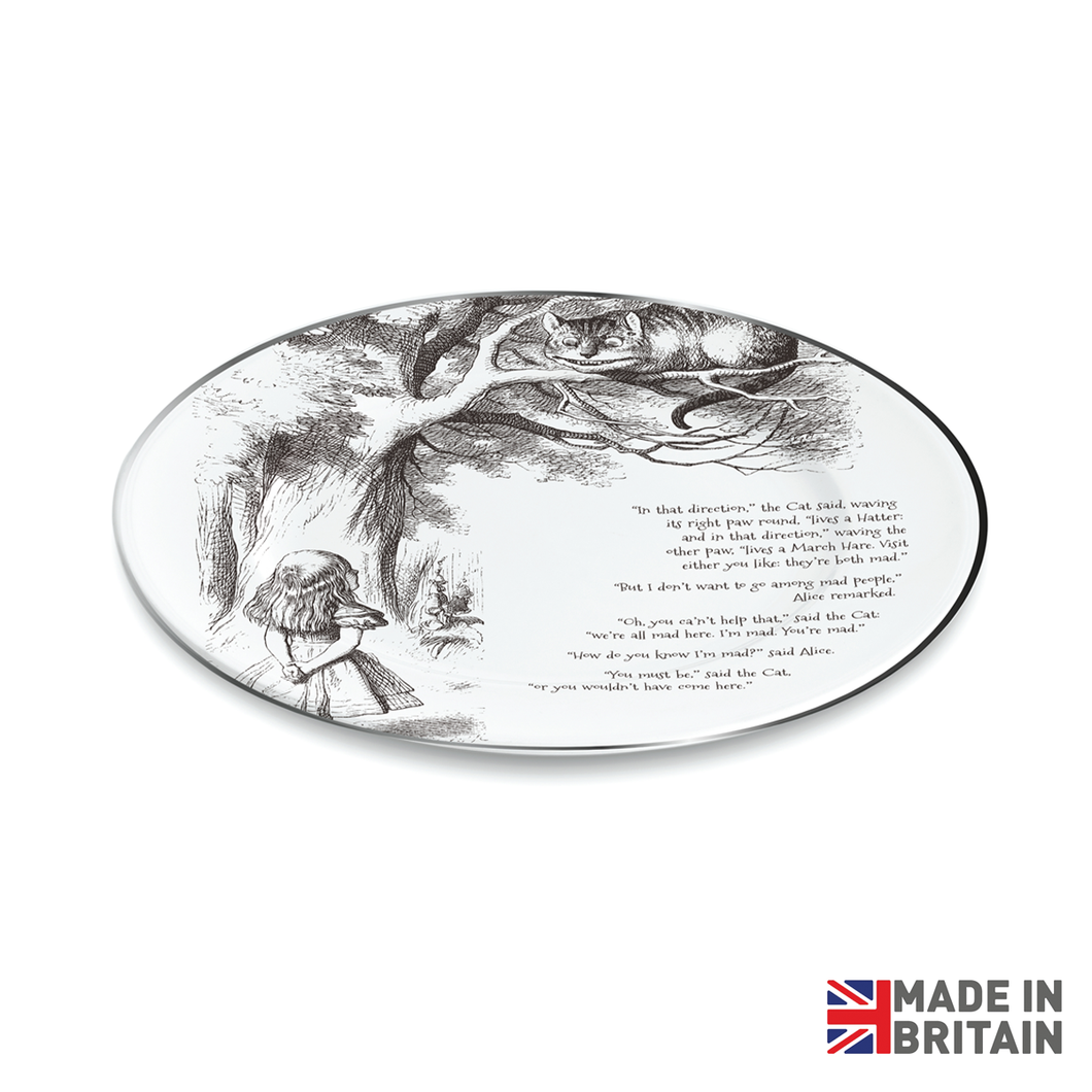 Alice & Cheshire Cat Dinner Plate