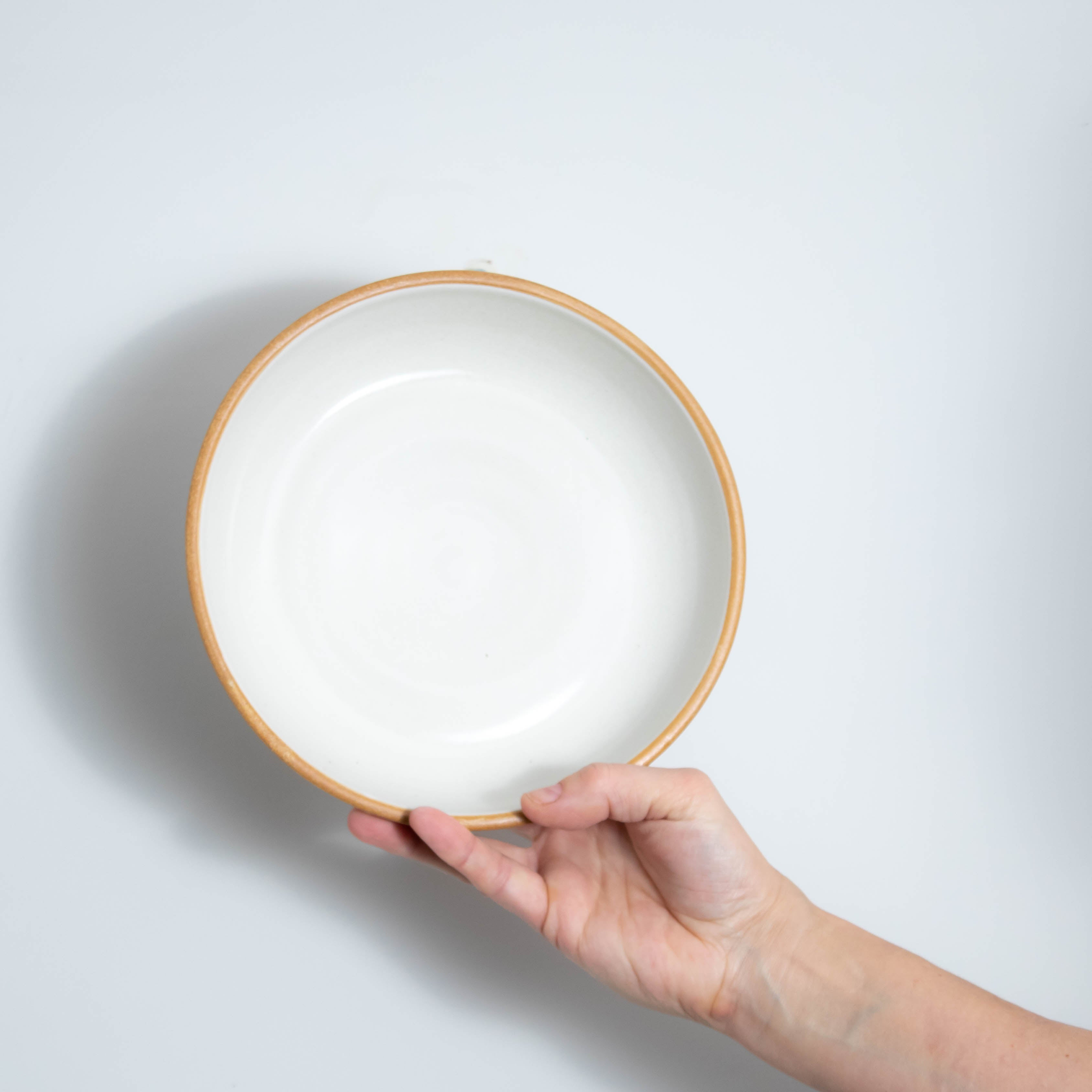 Matte White With Rye Edge Coupe Bowl 21cm Dia