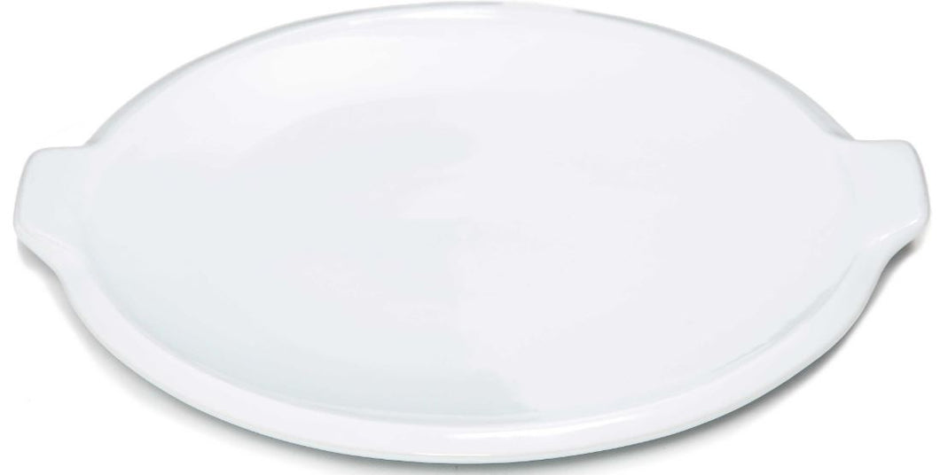 White Round Pizza Plate With Ears - 1 case of 6