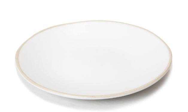 Irregular Shaped Plate Studio White Waxed Edge 12