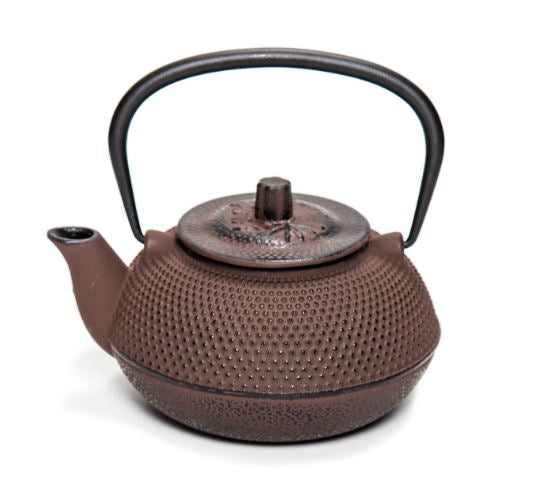 Japanese Style Traditional Brown Round Teapot 0.5ltr