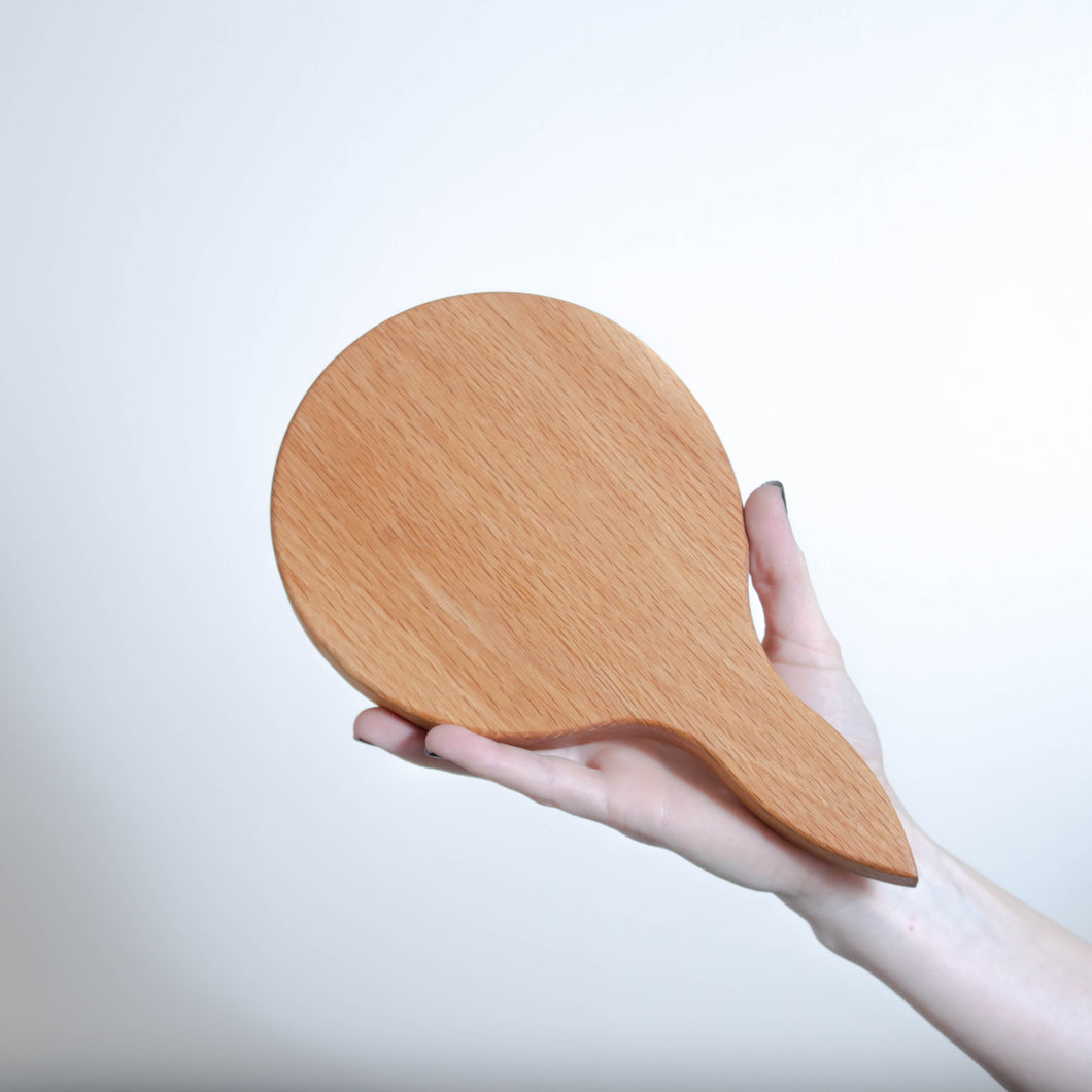 Wooden Board Round Paddle Small - Oak - 25 x 15cm