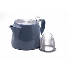 Load image into Gallery viewer, Stackable Teapot with St/S Lid & Strainer 21oz/600ml - Grey