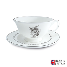 Load image into Gallery viewer, Queen of Hearts Cup & Saucer