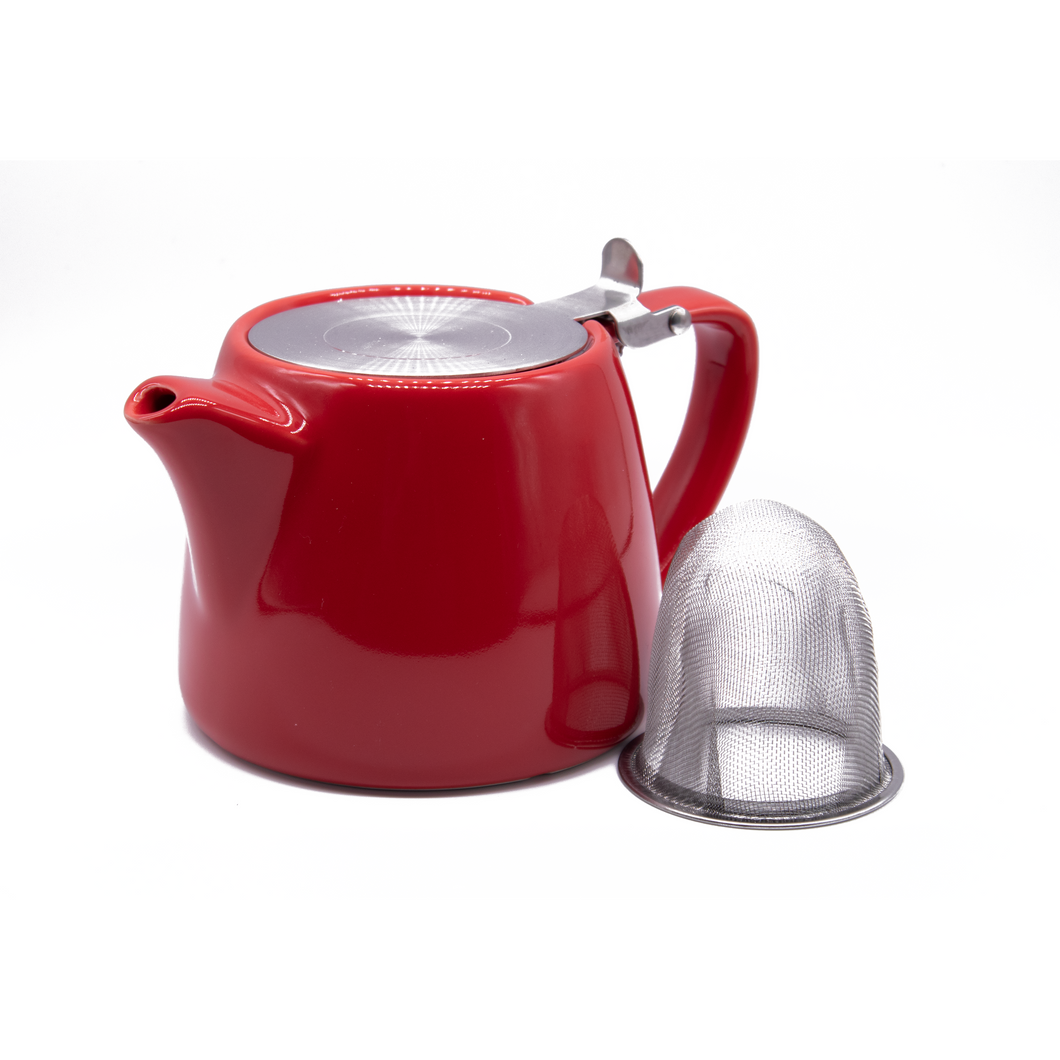 Stackable Teapot with St/S Lid & Strainer 21oz/600ml - Red