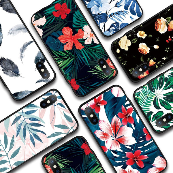 Leaves Plants Floral Phone Cases For iPhone - ikeeki.com