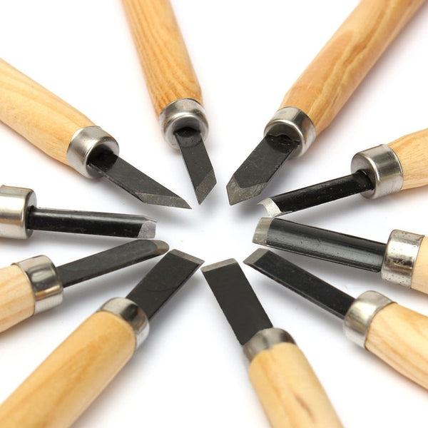 Wood Carving Chisels Knife 10pcs - ikeeki.com
