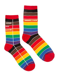 Out of Print Library Card Pride Unisex Socks Large