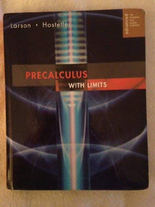Precalculus With Limits. Advanced. For Advanced High School Students.
