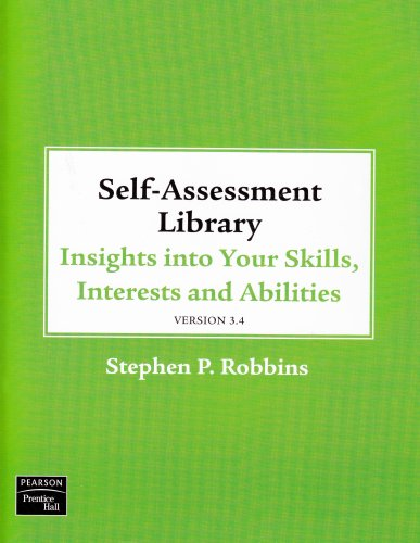 Self Assessment Library 3.4: Insights Into Your Skills, Interests and Abilities [With CDROM and Access Code]