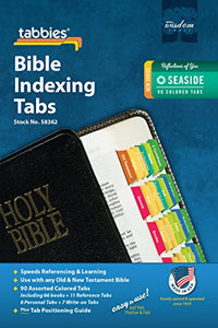 Tabbies Reflections of You Series Bible Indexing Tabs, Old & New Testaments, 90 Tabs - 66 Books, 11 Ref, 6 Personal, 7 Write-on, Seaside Palette (58362)