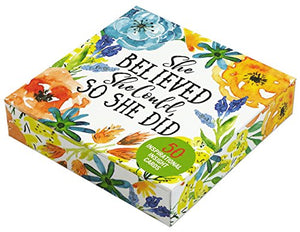 She Believed She Could, So She Did Insight Cards (Deck of 50 Empowering Inspirational Cards)