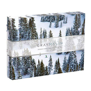 Galison Gray Malin 2-Sided Jigsaw Puzzle, The Snow, 500 Pieces - 24? x 18?, Double-Sided Puzzle with Vibrant Artwork, Perfect for Family Fun