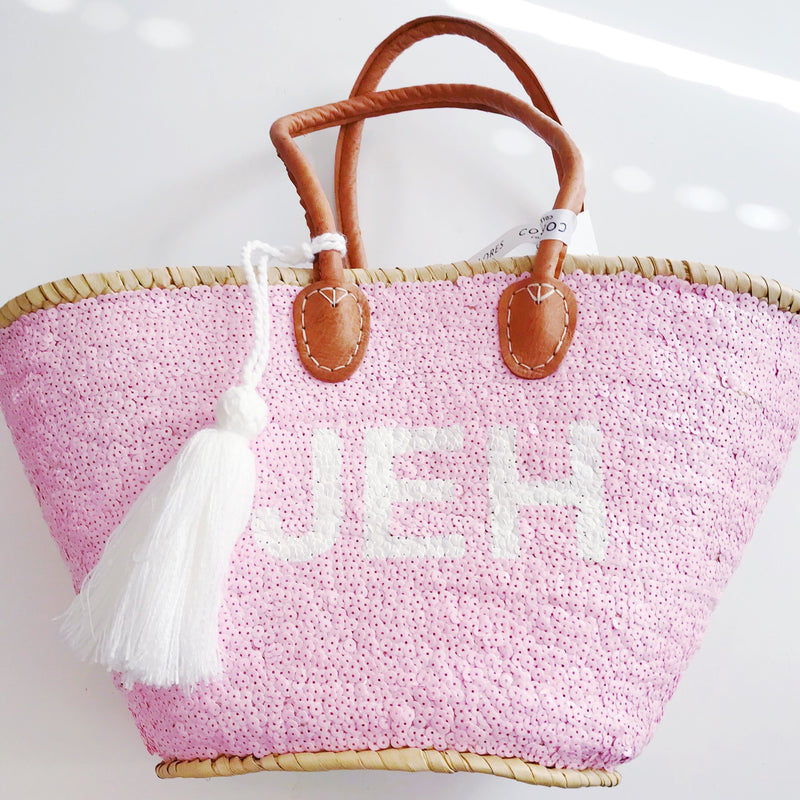 All Over Sequin Monogram Tote