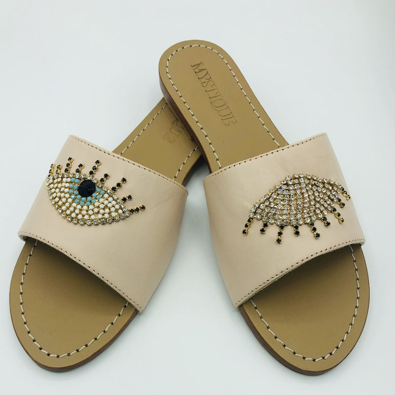 Evil Eyes Crystal Sandal