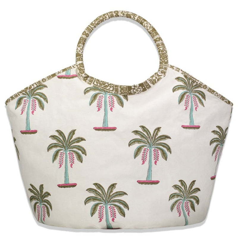 Byron Palm  Reversible Tote