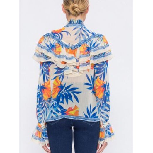 Tangerine Tropical Blouse