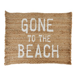 Gone To The Beach Jute Mat