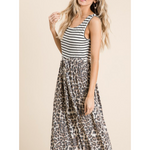 Mix Tie Maxi Dress