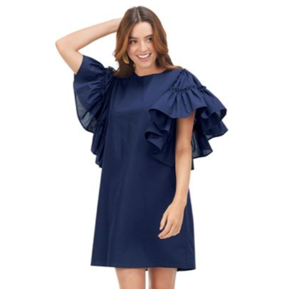 Sutton Ruffle Sleeve Dress