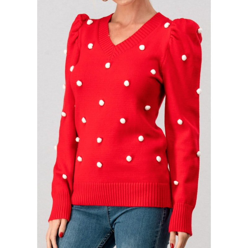 Poppy Pom Sweater