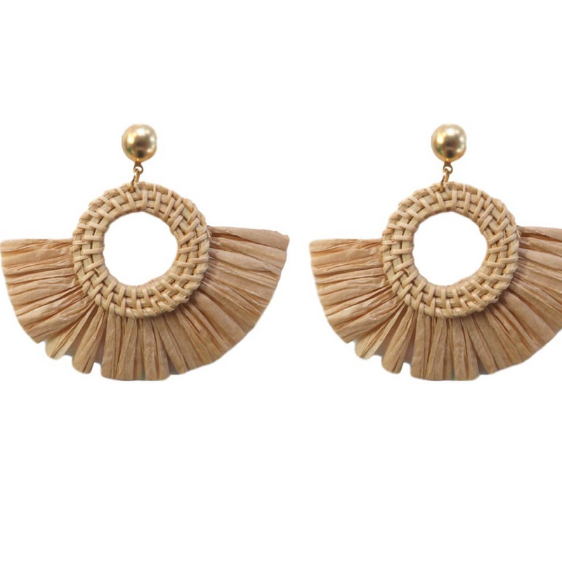 Bali Fan Tassel Earrings