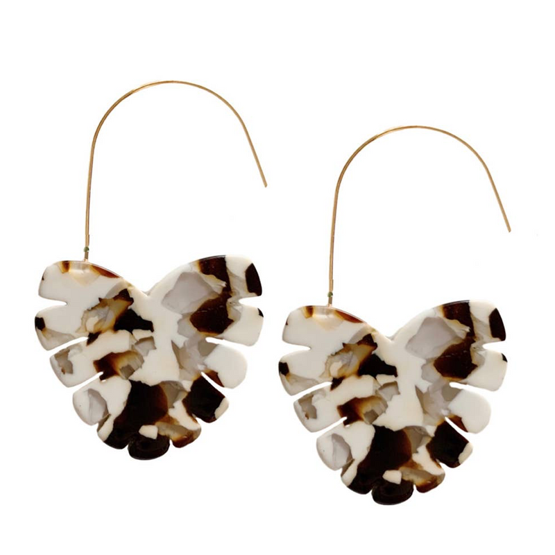 Palm Cocoa Threader Earrings