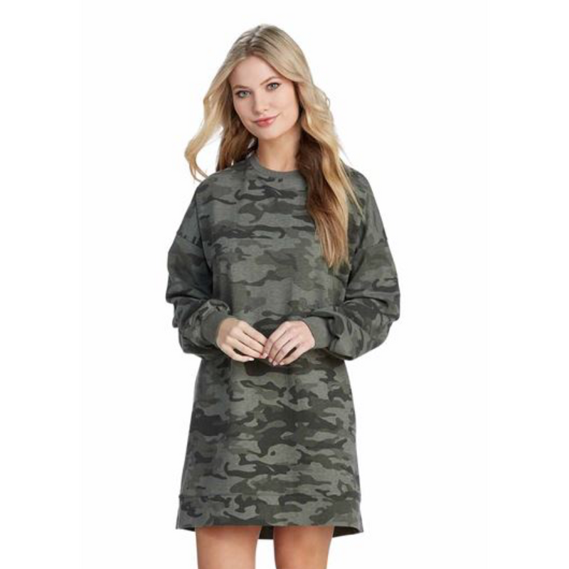 Wes Camo Sweatshirt Dress