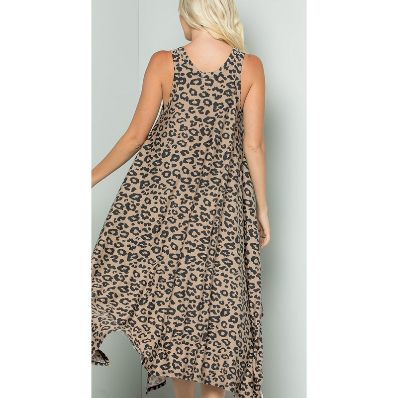 Lele Leopard Dress