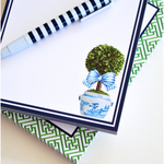 Striped Topiary Notepad