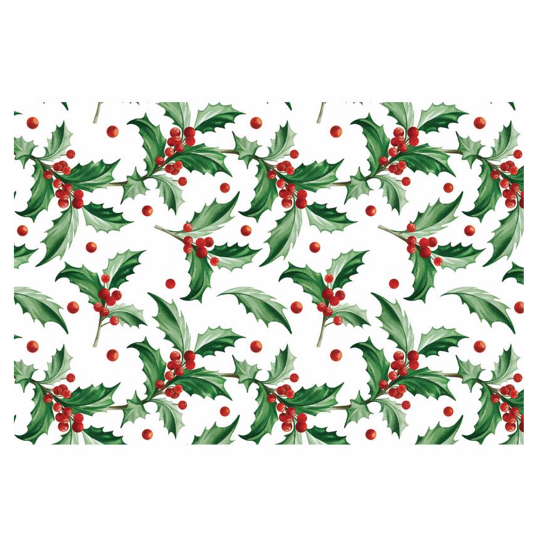 Holly Paper Placemats