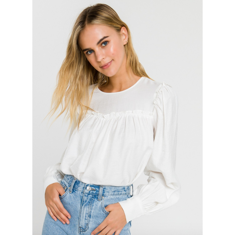Shirred Merry Blouse