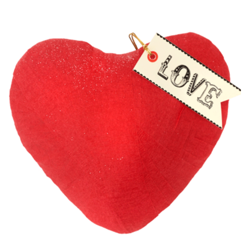 Love Red Heart Surprise Ball