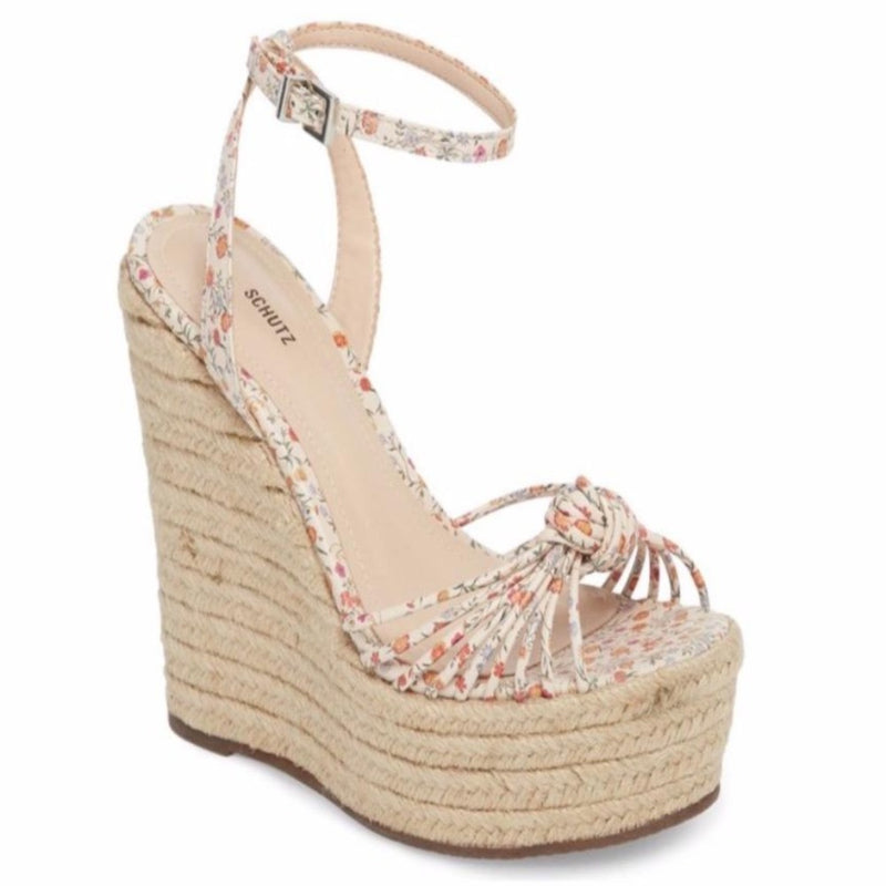 Gianna Floral Wedge