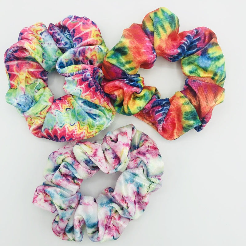 Tie Dye Set of 3 Scrunchies