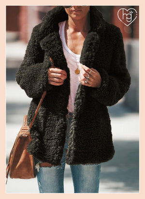 Comfy-Fit Fluffy Teddy Coat